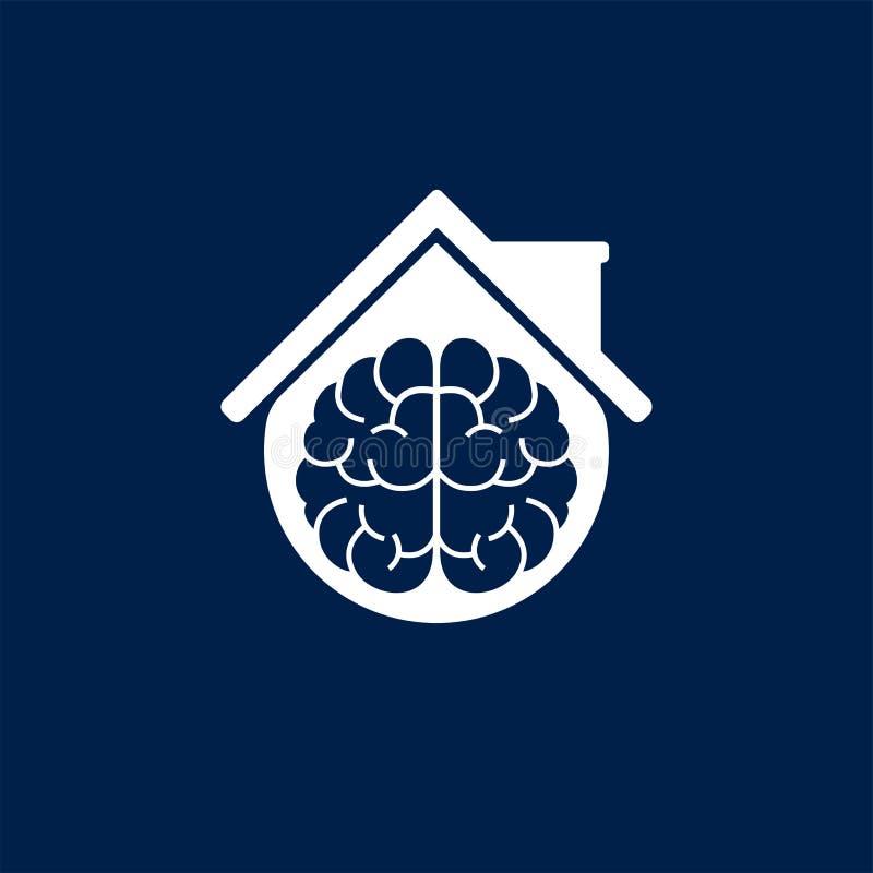 De vectorontwerpsjabloon van Smart Homebrain logo vector illustratie