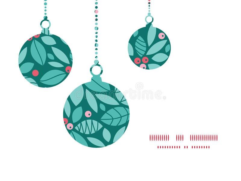 De vectorornamenten van de bessenkerstmis van de Kerstmishulst stock illustratie