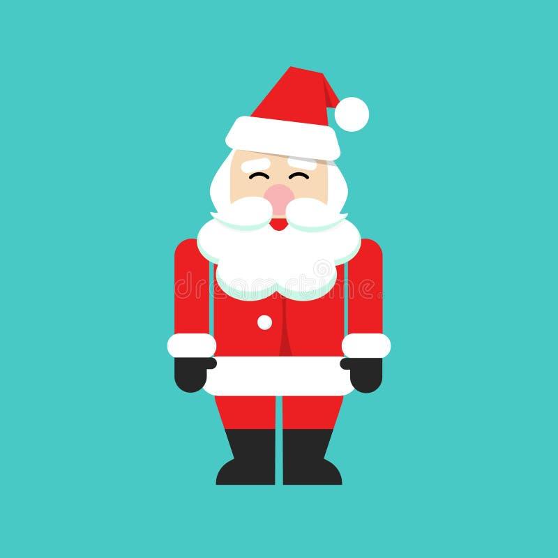 De vectorpersoon van de Kerstman, vlakke Kerstmisvader van de beeldverhaalstijl royalty-vrije illustratie