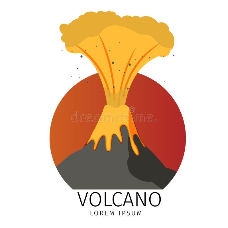 De vectorpictogrammen van Illustratie Vulkanische Spuitende vissen royalty-vrije illustratie