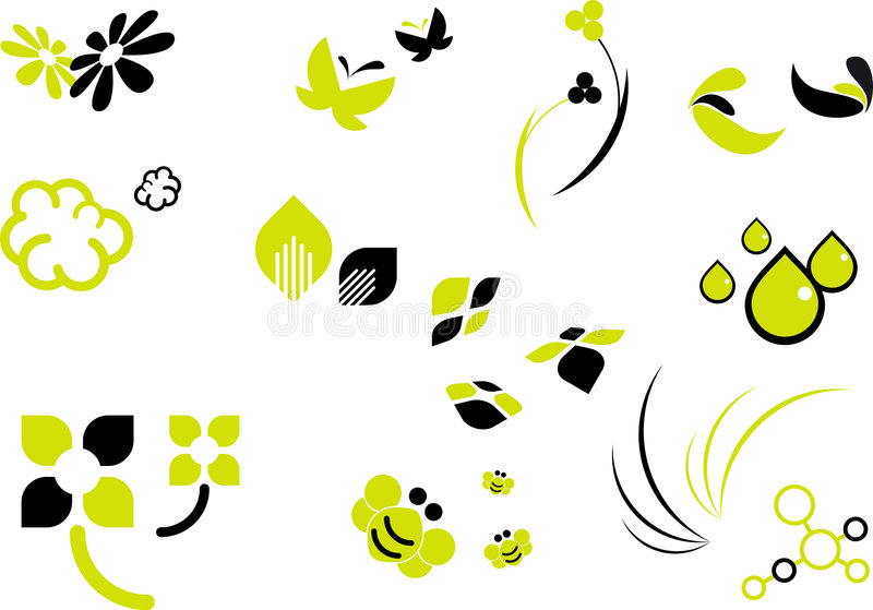 De VectorReeks van de lente stock illustratie