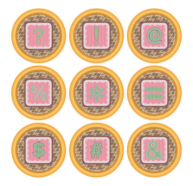 De vectorreeks van het de mandpictogram van het pictogrampak royalty-vrije illustratie