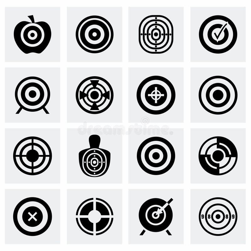 De vectorreeks van het doelpictogram vector illustratie