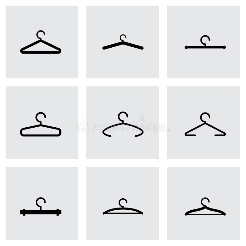 De vectorreeks van het hangerpictogram royalty-vrije illustratie