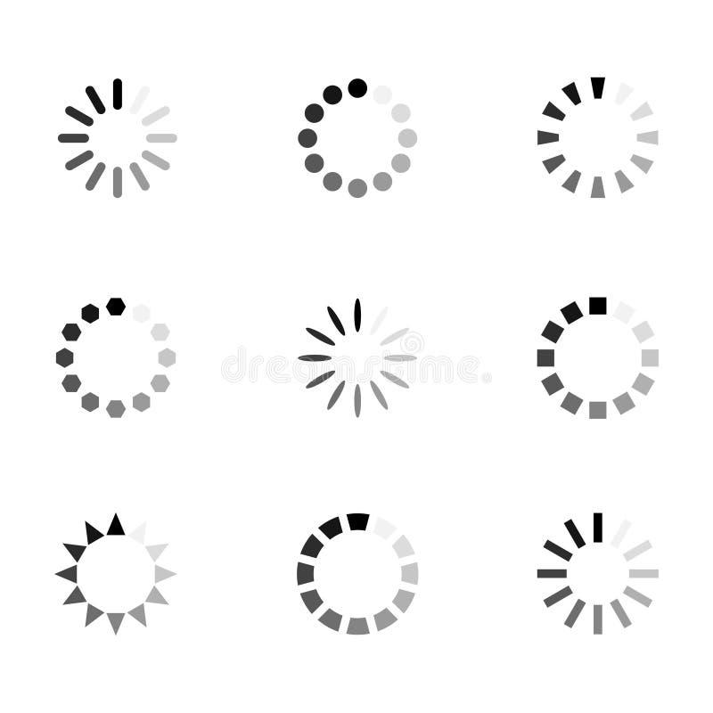 De vectorreeks van het ladingspictogram stock illustratie