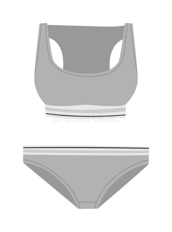 De vectorreeks van het ondergoedsilhouet vector illustratie