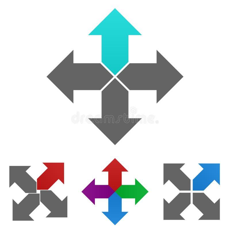 De vectorreeks van het pijlembleem royalty-vrije illustratie