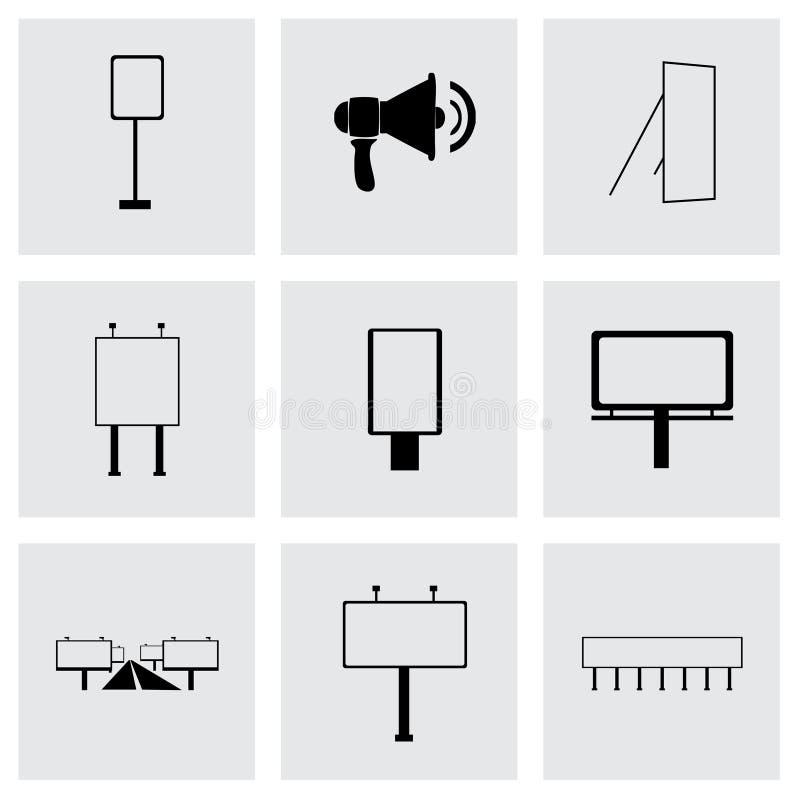 De vectorreeks van het reclamepictogram stock illustratie