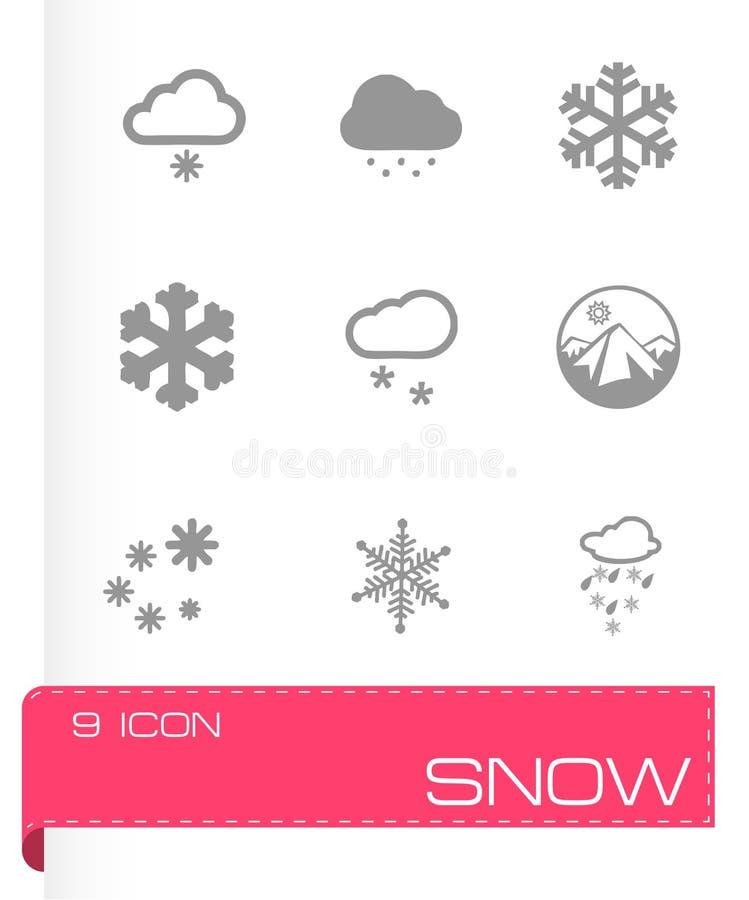 De vectorreeks van het sneeuwpictogram royalty-vrije illustratie