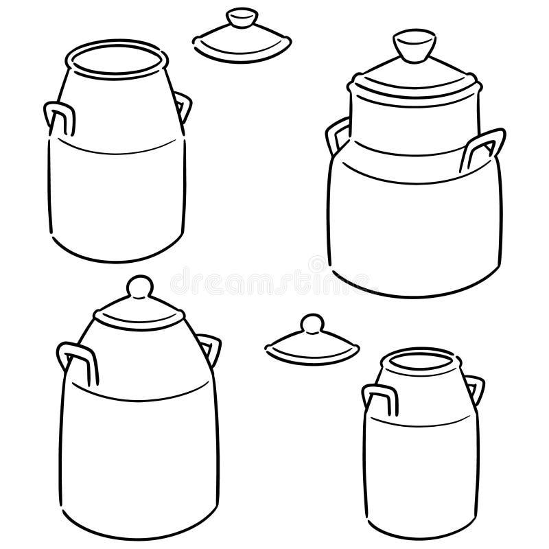 De vectorreeks van melk kan vector illustratie