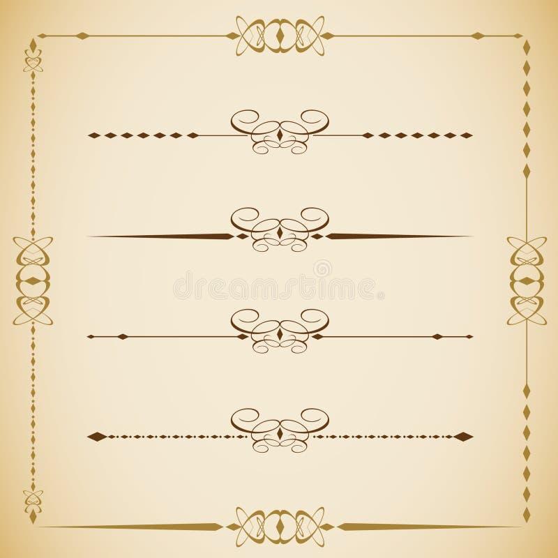 De vectorreeks van wijnoogst ontwierp etiketten 0010 royalty-vrije illustratie