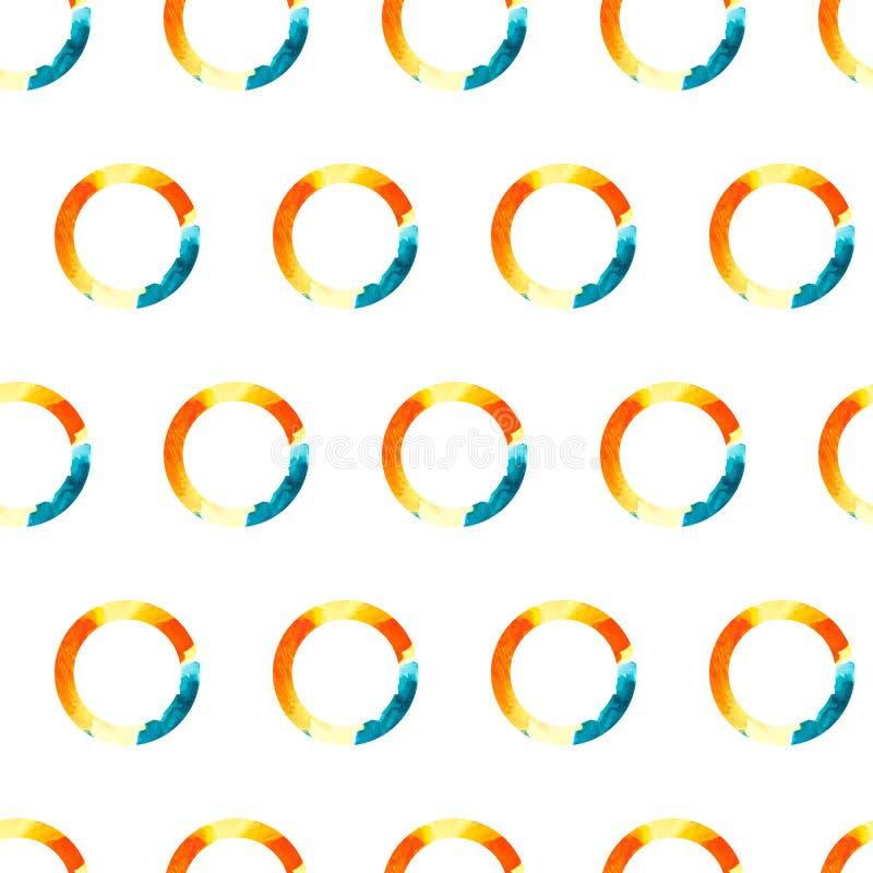 De vectorring van de Patroonwaterverf vector illustratie