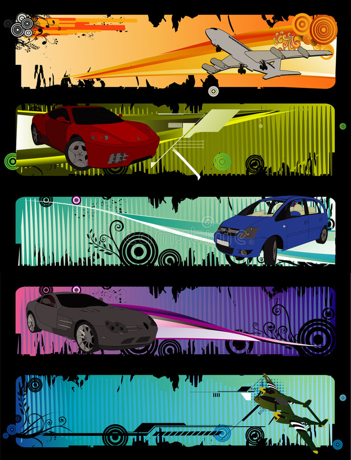 De vectorsamenstelling van auto's vector illustratie