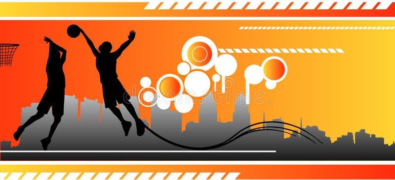 De vectorsamenstelling van het basketbal stock illustratie