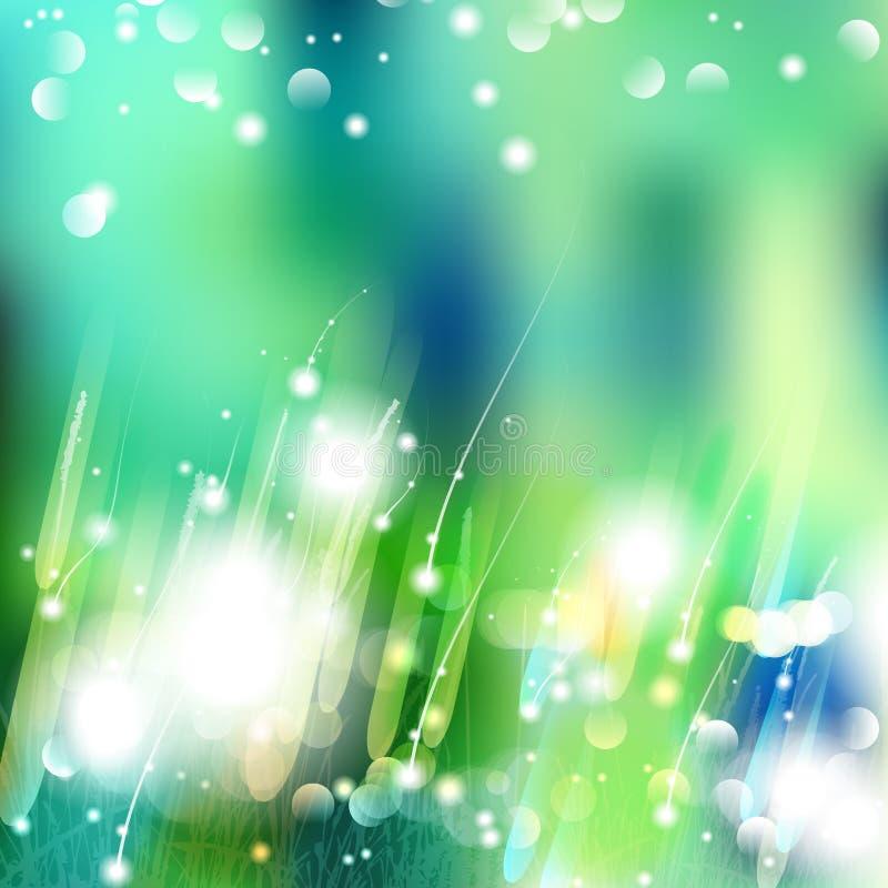 De vectorsamenvatting defocused bokeh de achtergrond van de de lentezomer van de lichtenaard Modieuze hipster onscherpe achtergro stock afbeelding
