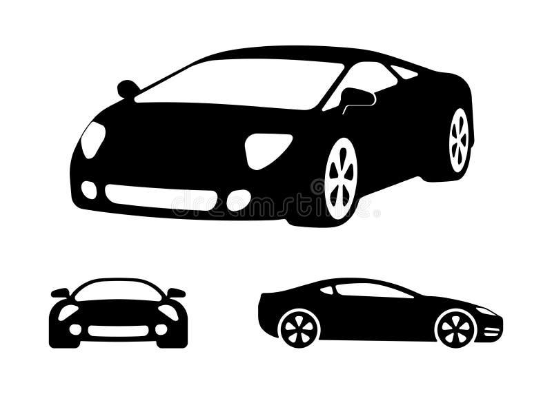 De vectorsilhouetten van de luxeauto vector illustratie