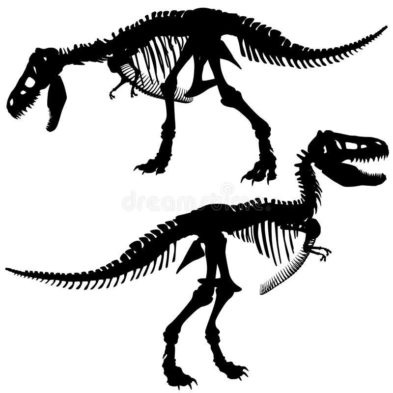 T rex skelet stock illustratie