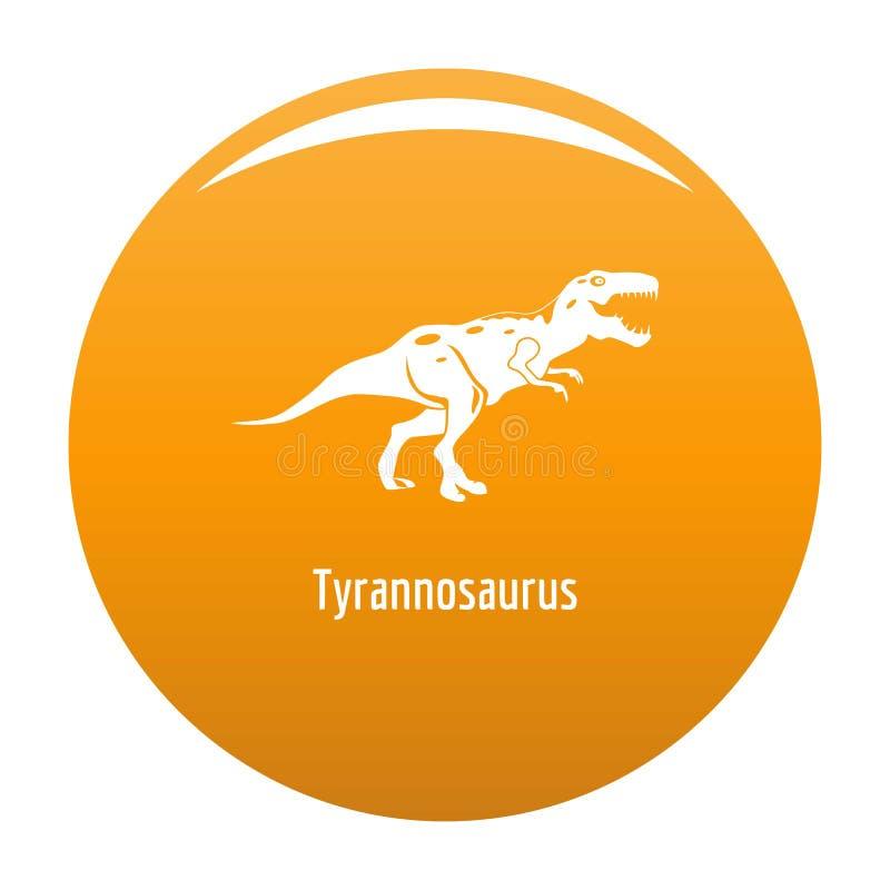 De vectorsinaasappel van het tyrannosauruspictogram stock illustratie