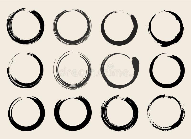 De vectorsymbolen van Zen Circles of van Vlekken Geplaatst Illustratie royalty-vrije illustratie
