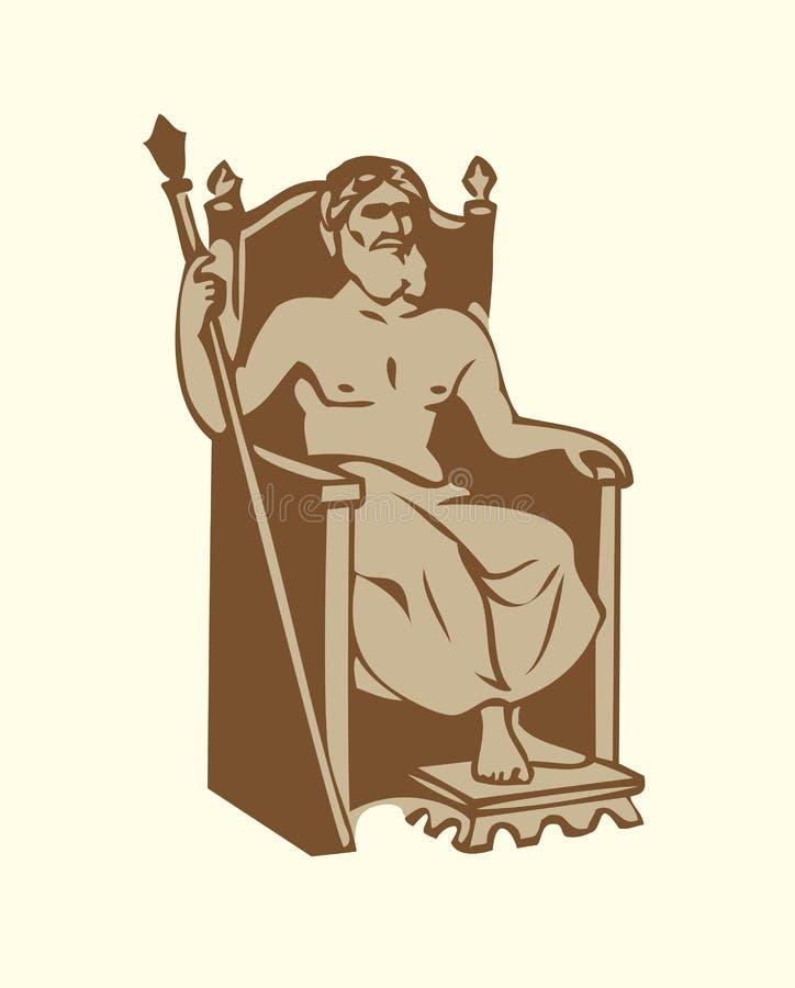 De vectorsymbolen van Zeven is van Oude WERELD benieuwd vector illustratie