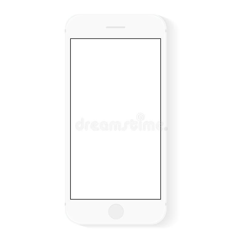 De vectortekening moden slim telefoonontwerp royalty-vrije illustratie