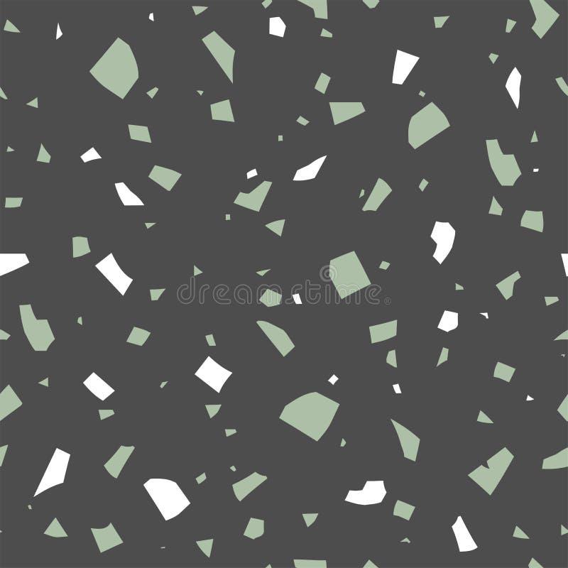 De vectorterrazzotextuur, vat donker naadloos patroon samen Klassieke Italiaanse achtergrond royalty-vrije illustratie