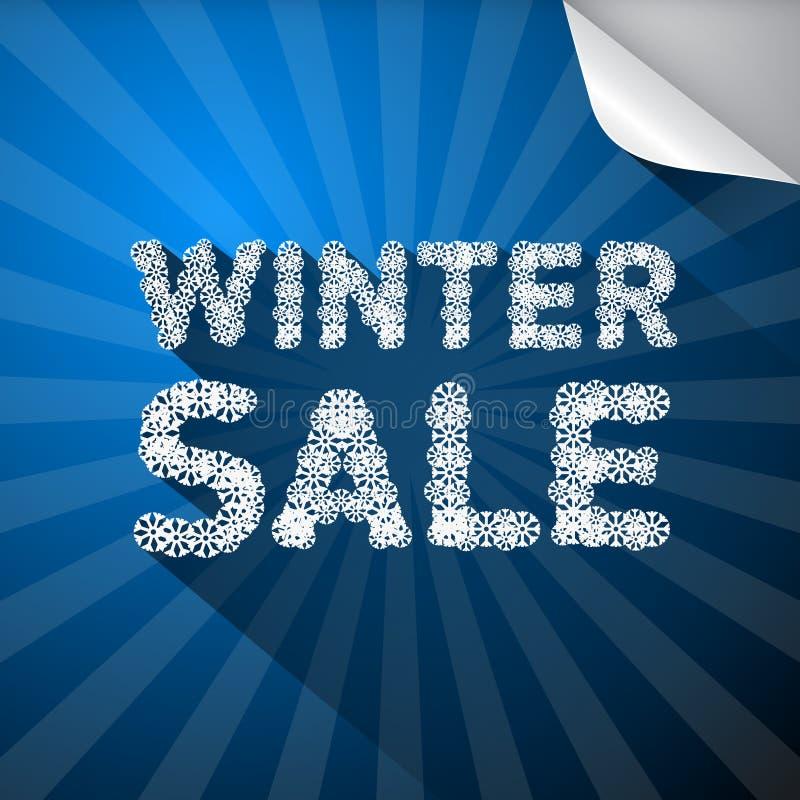 De vectortitel van de de Winterverkoop stock illustratie