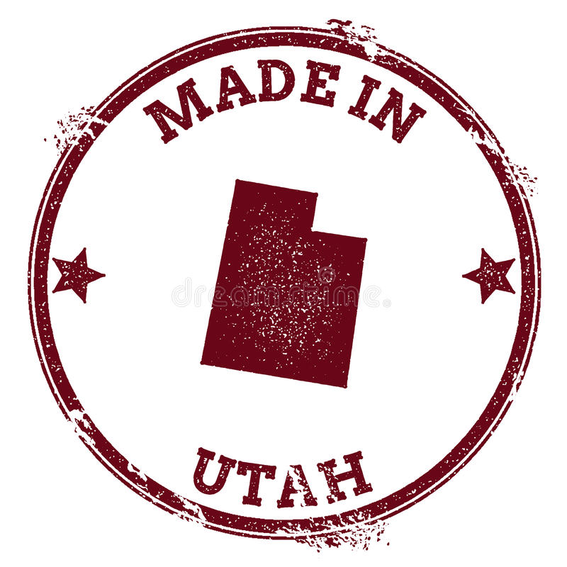 De vectorverbinding van Utah vector illustratie