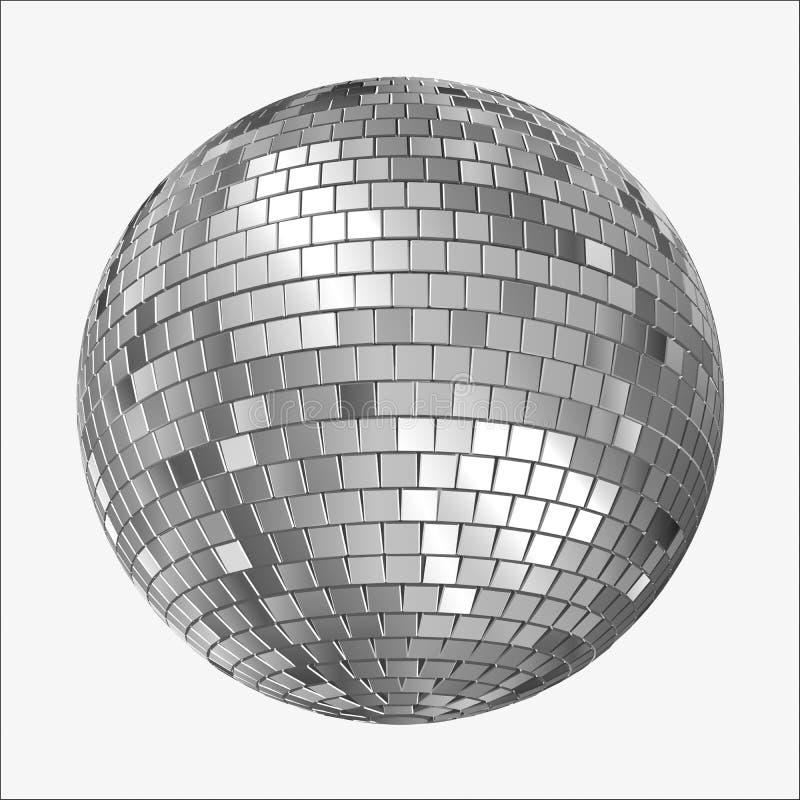 De Vectorversie van discomirrorball vector illustratie