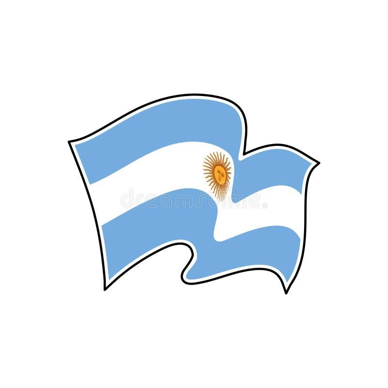 De vectorvlag van Argentinië Nationaal symbool van Argentinië royalty-vrije illustratie