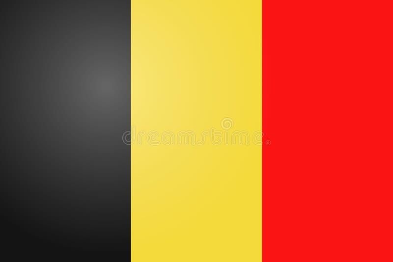 De vectorvlag van België, de vlagillustratie van België, de vlagbeeld van België, de vlagbeeld van België royalty-vrije illustratie
