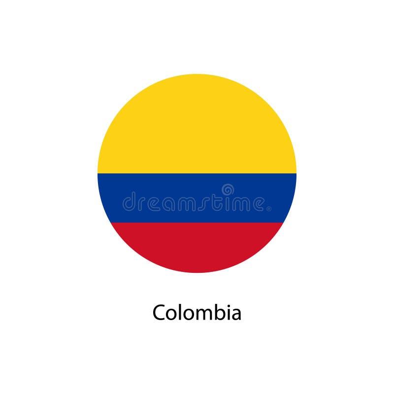 De vectorvlag van Colombia, de vlagillustratie van Colombia royalty-vrije illustratie
