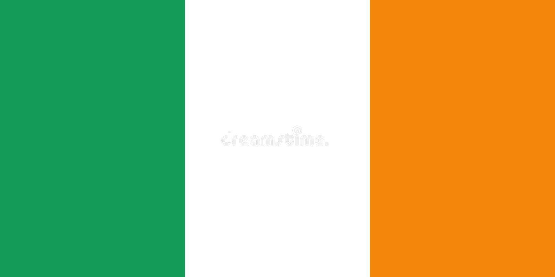 De vectorvlag van Ierland royalty-vrije illustratie
