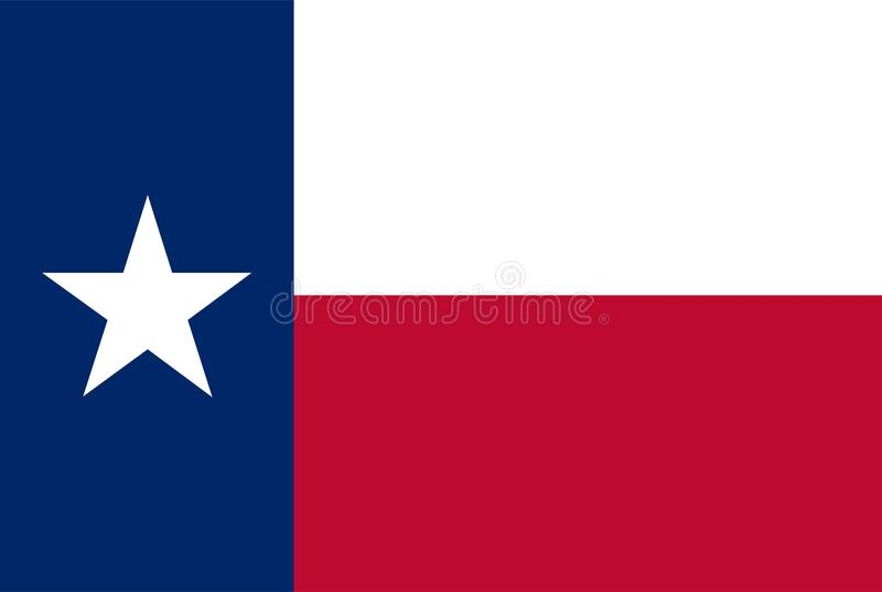 De vectorvlag van de staat van Texas vector illustratie