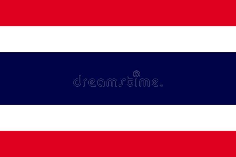 De vectorvlag van Thailand, de Vectorvlag van Thailand vector illustratie