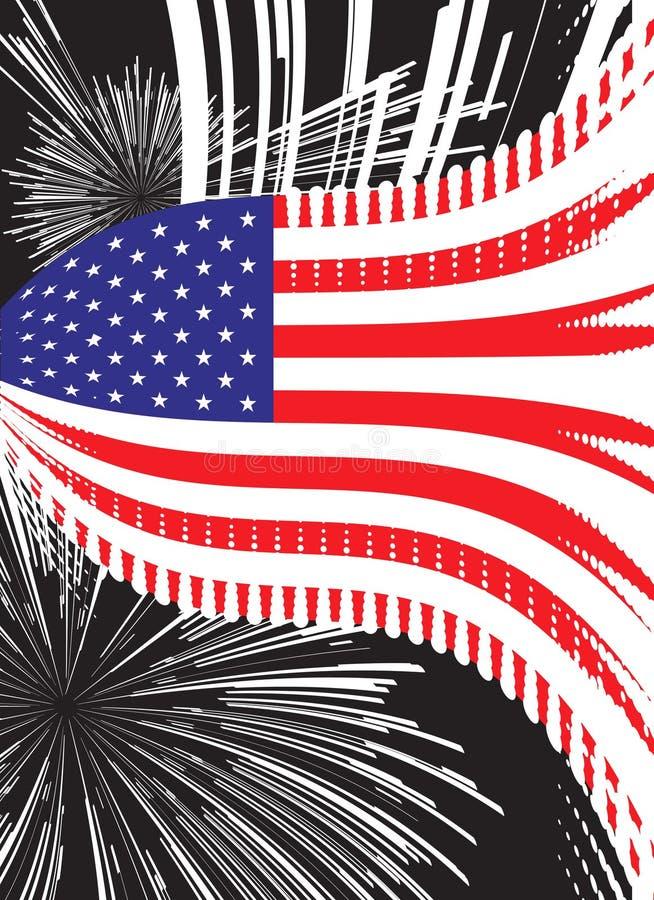 De vectorvlag van Verenigde Staten vector illustratie