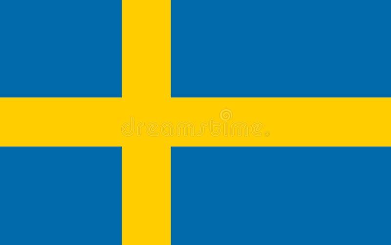 De vectorvlag van Zweden Officiële vlag van Zweden Stockholm royalty-vrije illustratie