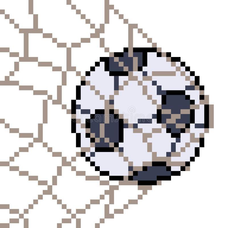 De vectorvoetbal van de pixelkunst stock illustratie