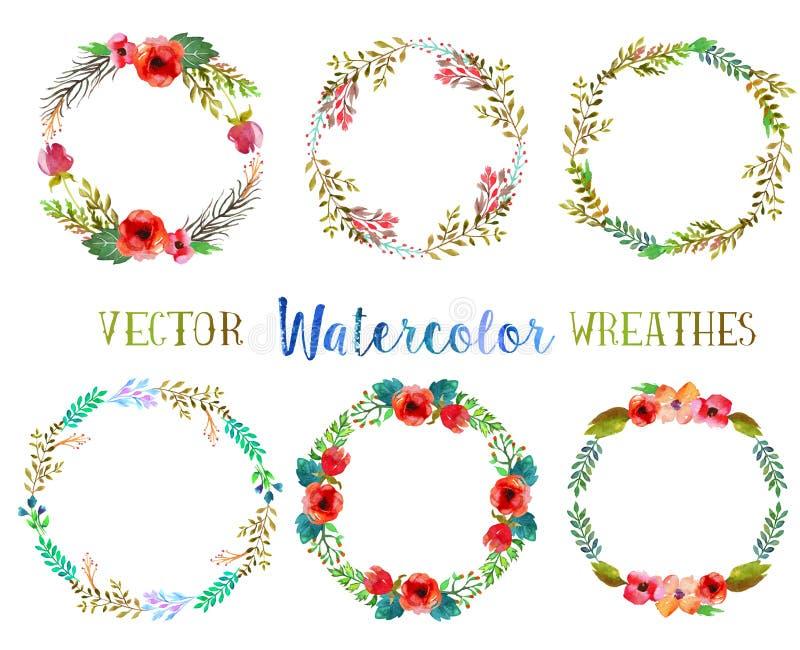 De vectorwaterverf omhult royalty-vrije illustratie