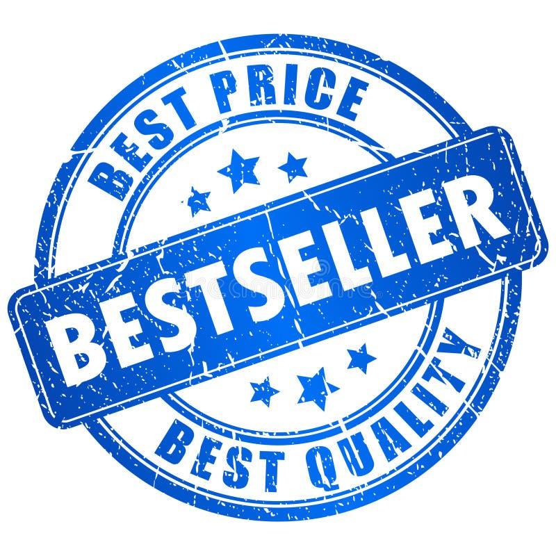 De vectorzegel van de best-seller royalty-vrije illustratie