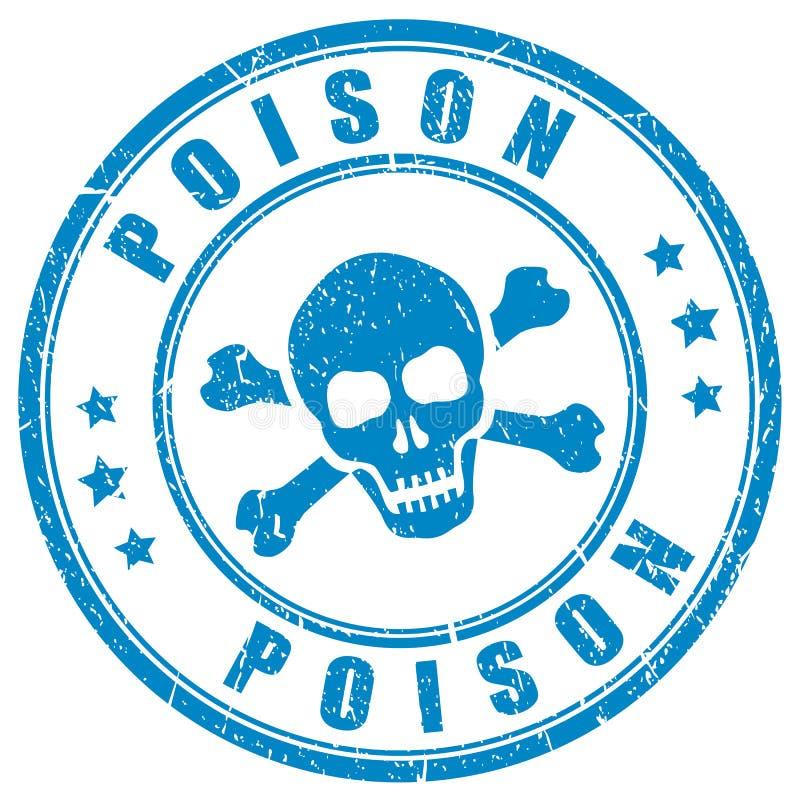 De vectorzegel van de vergiftschedel royalty-vrije illustratie