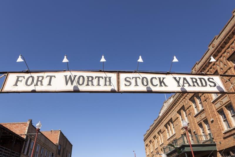 De Veekralen historisch district van Fort Worth Texas, de V.S. stock fotografie