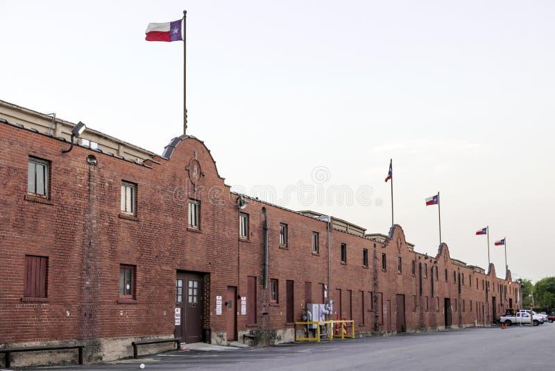 De Veekralen historische gebouwen van Fort Worth stock fotografie