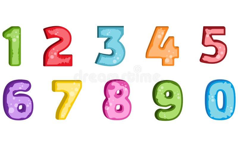 De veelhoekconcept van de aantalbrief Nummer brief één tot negen stock foto's