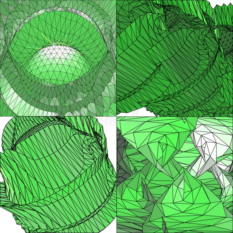 De veelhoekige achtergrond van de mozaïek abstracte vectorillustratie stock illustratie