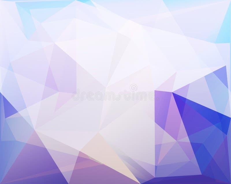 De veelhoekige driehoeks vectorachtergrond, blauw, nam en turkoois c toe vector illustratie