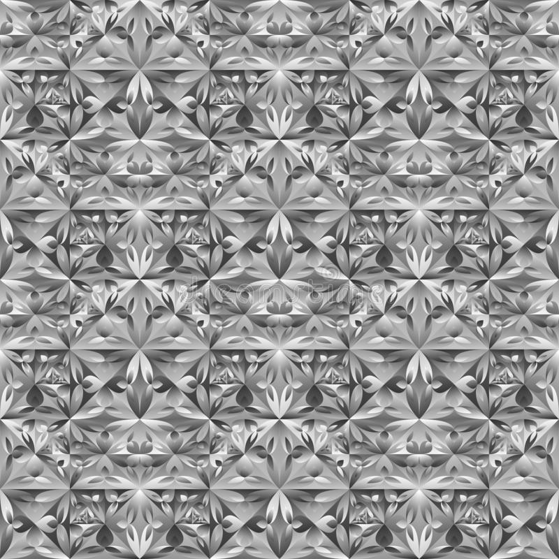 De veelhoekige naadloze geometrische bloemenachtergrond van het driehoekspatroon vector illustratie