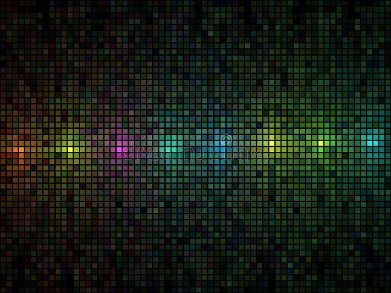 De veelkleurige achtergrond van de lichtentegel stock illustratie