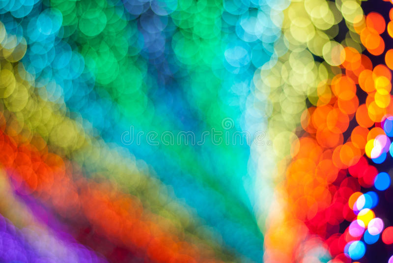 De veelkleurige vage achtergrond van de regenboog of bokeh stock afbeeldingen