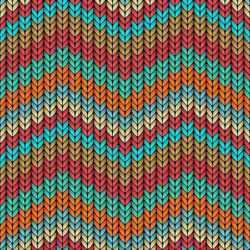 De veelkleurige zigzag breide naadloos patroon royalty-vrije illustratie
